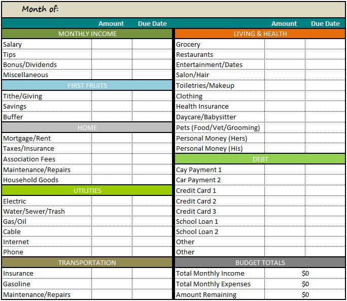 How To Make A Spreadsheet For Monthly Bills Idealstalist
